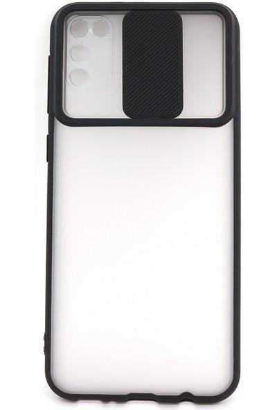 Case Markt Samsung Galaxy M21 & M30S Sürgülü Kamera Korumalı Telefon Kılıfı