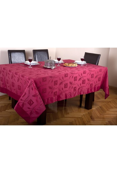 BEREKET Home Bantlı Pop-Up Masa Örtüsü Grief 160X400 Bordo