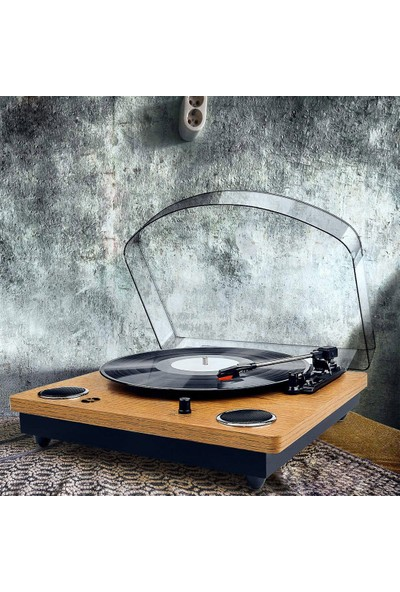 Record Master TT249 Retro Pikap - Bluetooth + Mp3 Kayıt - 33, 45, 78 Devir RM-TT249