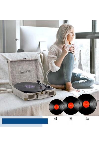Record Master ST14012 Retro Pikap - Bluetooth Özellikli -Kumaş Kaplama- Tüm Plak Türlerini Çalabilme