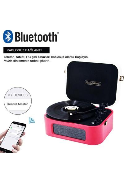 Record Master TT270 Pikap - Bluetooth Özellikli - AT3600 Manyetik Kartuş - 33. 45 Devir