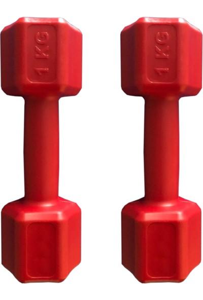 ECG Ecgspor 1 kg Kırmızı Dambıl Seti 1 kg x 2 Adet Toplam 2 kg Ağırlık