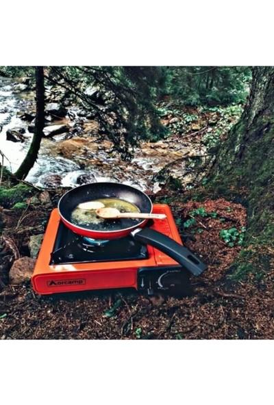 Orcamp Portatif Tekli Kamp Piknik Ocağı Kartuşlu Taşınabilir Çantalı Camping Ocak