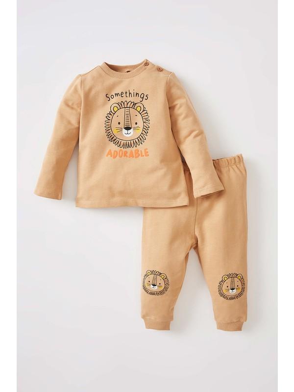 DeFacto Erkek Bebek Regular Fit Aslan Baskılı 2'li Takım V9551A221AU
