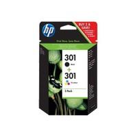 HP 301 2'li Paket Siyah/Üç Renkli Mürekkep Kartuş (CR340EE)