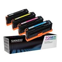 Sanzio Hp Cb540a Cb541a Cb542a Cb543a Muadil Toner Seti