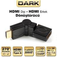 Dark HDMI 270° Derece Dönüştürücü Dirsek (HDMI Erkek - HDMI Dişi) (DK-HD-AMXF270)
