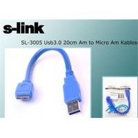 S-Link Sl-3005 Usb3.0 20Cm Am To Micro Am Kablosu