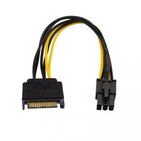 Ti-Mesh Sata 15Pin M To 6Pin Card Power - 15Cm