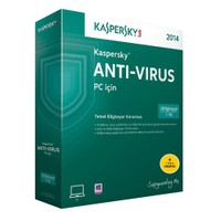 Kaspersky Antivirüs 2014 4 Kullanıcı 1 Yıl (2016 Sürümüne Yükseltilebilir)