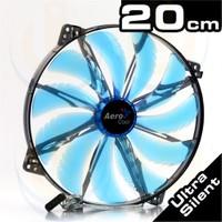 Aerocool Silent Master Serisi 20cm Mavi LED'li Sessiz Kasa Fanı (AE-CFSL200B)