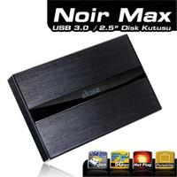 "Akasa Noir Max 2.5"" USB 3.0/2.0 12.5mm SATA Disk Destekli Full Alüminyum Siyah Disk Kutusu (AK-NR2SU3-BK)"