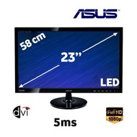 "Asus VS238H 23"" 5ms (Analog+Dvi+HDMI) Full HD LED Monitör"
