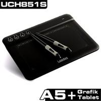 UC Logic Lapazz H851S Çift Kalemli A5+ Profesyonel Hot Key Grafik Tablet (Siyah) (UCH851S)