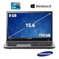 """Samsung ATIV Book NP550P5C-S05TR Intel Core i7 3630QM 2.4GHz 8GB 750GB 15.6"""" Taşınabilir Bilgisayar"""