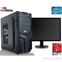 "CaseBull PC28xeon3202OBM Intel Xeon 2.8GHz 2GB 320GB 18.5"" LED Masaüstü Bilgisayar +Antivirüs Hediye"