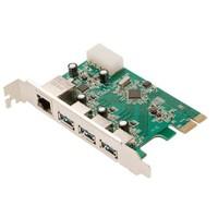 LogiLink PC0074 3 Port USB 3.0 + 1 Port Gigabit LAN PCI Express Kart