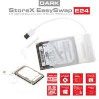 """Dark Storex E24 2.5"""" USB 3.0 Çıkarılabilir Başlıklı Şeffaf SATA Disk Kutusu (DK-AC-DSE24U3)"""