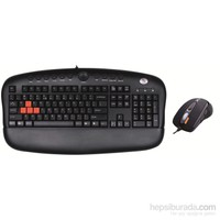 A4 Tech KX-2810BK USB Gamer SET (Q-Multimedya GAMER Klavye+ 2000dpi GAMER Mouse)