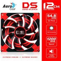 """Aerocool """"Dead Silence"""" 12cm Kırmızı Ledli Sessiz Kasa Fanı (AE-CFDS120RD)"""