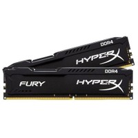 Kingston HyperX Fury Black 8GB(2x4GB) 2400MHz DDR4 Ram (HX424C15FBK2/8)