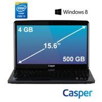 "Casper Nirvana CN.HBI4200B Intel Core i5 4200M 2.5GHz / 3.1GHz 4GB 500GB 15.6"" Taşınabilir Bilgisayar"