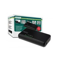 Digitus Unmanaged 5 Port 10/100Base-T Fast Ethernet Switch, Masaüstü Tipi DN-50012