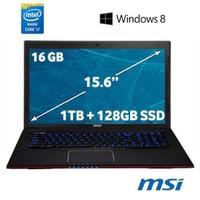 """MSI GE60 2OE-252TR Intel Core i7 4700MQ 2.4GHz / 3.4GHz 16GB 1TB + 128GB SSD 15.6"""" Taşınabilir Bilgisayar"""