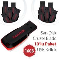 Sandisk Cruzer Blade 16GB Usb Bellek SDCZ50-016G-B35 (10'lu paket)