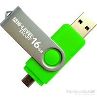 Hi-Level OTG Smart 16GB Usb Bellek (HLV-USB20B/16G-YEŞİL)
