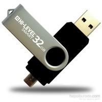 Hi-Level OTG Smart 32 GB 2.0 Siyah USB Bellek HLV-USB20B/32G
