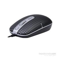 A4 Tech D-557Fx-1 Siyah Usb Kablolu Holeless Mouse