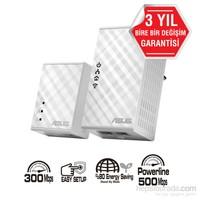 Asus PL-N12 Kit 300 Mbps Kablosuz HomePlug® AV500 Powerline Adaptör Kiti