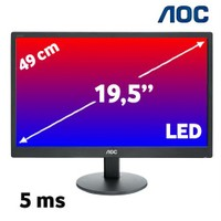 "AOC e2070SWN 19.5"" 5ms (Analog) LED Monitör"