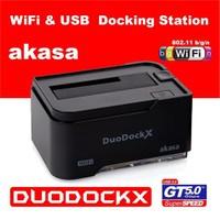 Akasa DuoDock X USB3.0/WiFi 802.11n Docking Station (AK-DK03W3-BKEU)