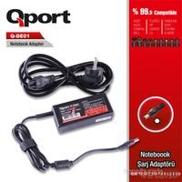 Qport Dell 45W 19.5V 2.31A 7.4*5.0*0.6 Dell Notebook Standart Adaptor(Ultrabook)-Pinli (QS-DE01)