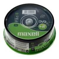 Maxell DVD+R 16X 4,7GB 120MIN Data/Video 25'Li Cakebox