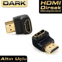 Dark HDMI 90 Dönüştürücü Dirsek HDMI Erkek – HDMI Dişi (DK-HD-AMXF90)