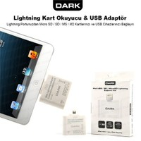 Dark iPad 4/iPad Mini 5in1 Lightning 8 Pin USB Kamera Bağlantı Kiti ve Kart Okuyucu (DK-AC-IPCKLT)