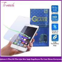 Ti-Mesh Iphone 6 Plus/6S Plus İçin Mor Işığı Engelleyen Ön Cam Ekran Koruyucu