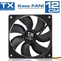 TX 12 cm Sessiz Siyah Kasa Fanı (TXCCF12BK)