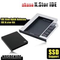 """Akasa N.Stor Notebook Slim IDE Optik Sürücü (ODD) Yuvasıyla Uyumlu 2.5"""" SATA HDD ve ODD Kutusu Bundle Kit (AK-OA2SDE-KIT)"""