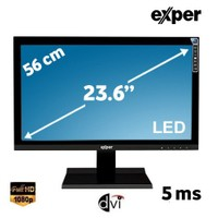 "Exper H6L-GVDS 23.6"" 5ms (Analog+DVI) Full HD Led Monitör"
