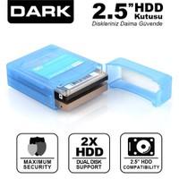 """Dark 2.5"""" Çiftli Disk Koruma ve Taşıma Kutusu (DK-AC-DAK2B)"""