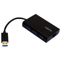 LogiLink UA0173 USB 3.0 3 Port Hub ve Gigabit Ethernet Adaptörü