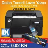 Hp Laserjet Pro M201dw Dolan Tonerli Süper Hızlı Yazıcı Ve Wifi Laser Yazıcı
