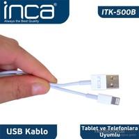 Inca ITK-500B iPad 4/iPad Mini Beyaz Şarj Kablosu