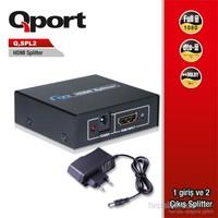 Qport Full HD 1 Giriş 2 Çıkışlı HDMI Splitter/Sinyal Çoğaltıcı (Q-SPL2)
