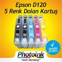 Epson T0711h-T0711h-T1002-T1003-T1004 Uyumlu Kolay Dolan Kartuşlar (Dolu) Photoink Mürekkepli