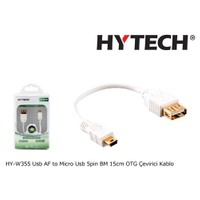 Hytech Hy-W355 Usb Af To Micro Usb 5Pin Bm 15Cm Otg Çevirici Kablo
